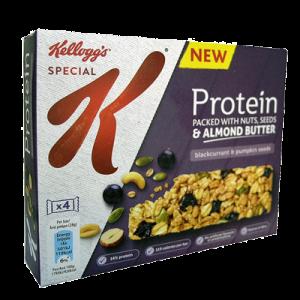 kelloggs bars protein almond p