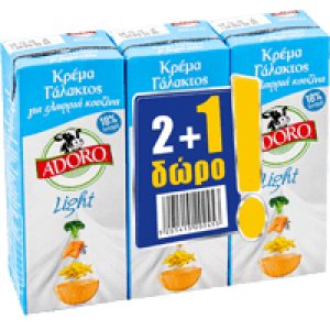 krema galaktos adoro light 3x200ml