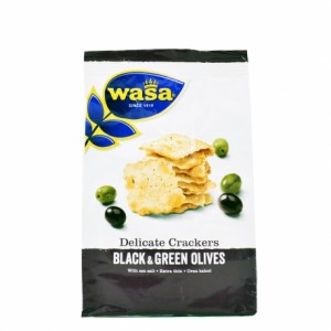 kraker 150gr black green olives extra thin wasa delicate crackers
