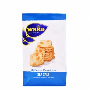 kraker 180gr sea salt extra thin wasa delicate crackers